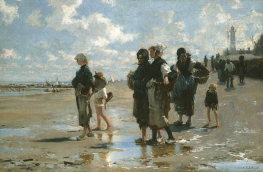 John Singer sargent - Oyster Gatherers at Cancale