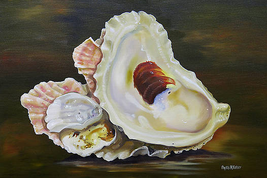 Oyster Shell Still Life by Phyllis Beiser