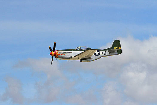 P-51 in the Clouds by Shoal Hollingsworth