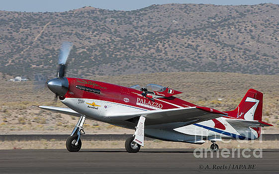 P-51Strega winner of the 2008 Unlimited Reno Air Races with  Bill  -Tiger- Destefani at the controls by Antoine Roels