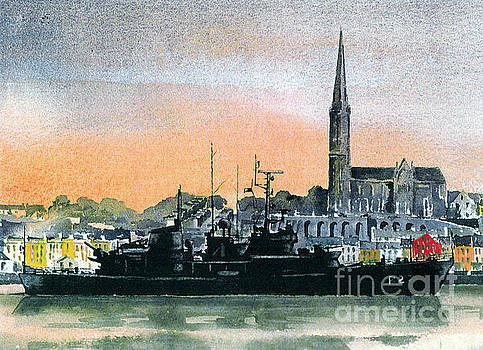 F 808 Cobh Harbour, Cork by Val Byrne