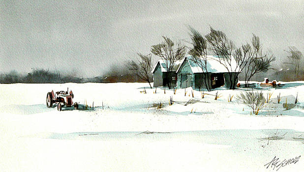 Winter's Farm Chill by Art Scholz