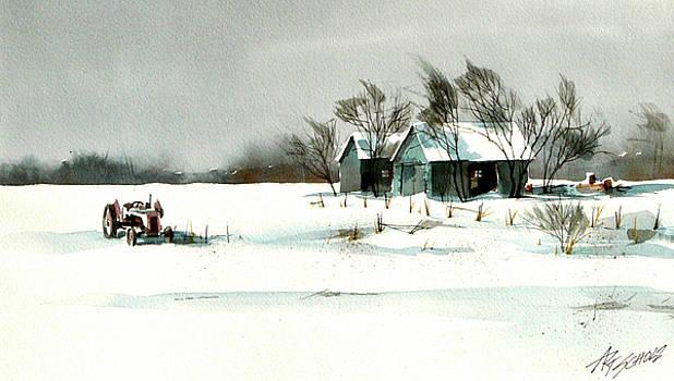 Winter's Farm Chill by Art Scholz