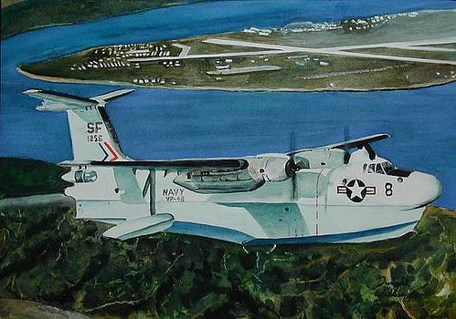 P5M over North Island by Dwight Williams