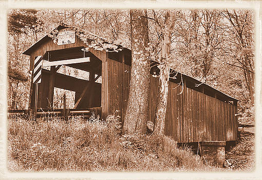 PA Country Roads - Esther Furnace Covered Bridge Over Roaring Creek No. 6AS-Alt - Columbia County by Michael Mazaika