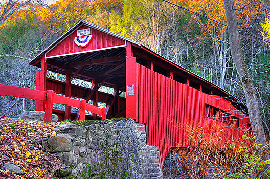PA Country Roads - Josiah Hess Covered Bridge Over Huntington Creek No. 13 - Columbia County by Michael Mazaika