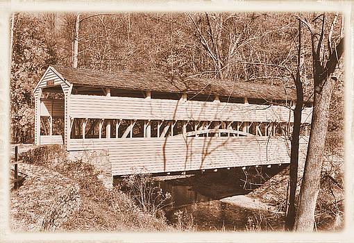 PA Country Roads - Knox Covered Bridge Over Valley Creek No. 2AS - Valley Forge Park Chester County by Michael Mazaika