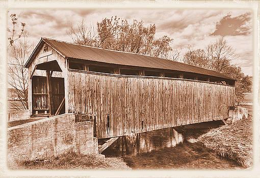 PA Country Roads - Kochenderfer Covered Bridge Over Big Buffalo Creek No. 1AS-Alt - Perry County by Michael Mazaika