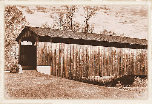 PA Country Roads - Larkin Covered Bridge, Village of Eagle Near Milford Mills No. 9AS - Chester Co. by Michael Mazaika