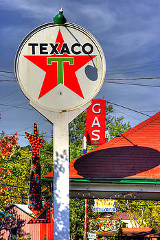PA Country Roads - Petroasis at the Big Bright Star No. 5 - Cruiser's Cafe - Mt. Pleasant Mills by Michael Mazaika