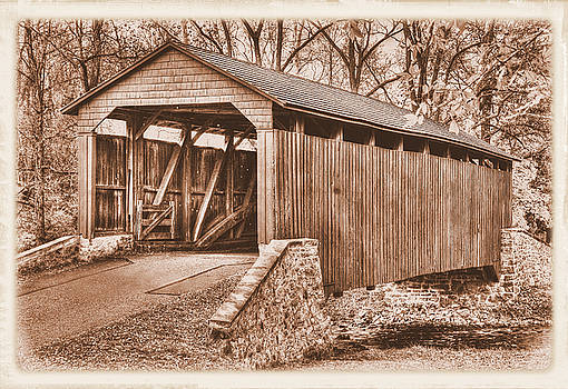 PA Country Roads - Poole Forge Covered Bridge Over Conestoga Creek No. 3BS-Alt - Lancaster County by Michael Mazaika