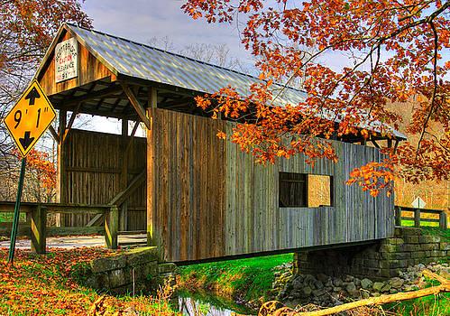 PA Country Roads - Scott Covered Bridge Over Ten-Mile Creek No. 1 - Greene County by Michael Mazaika