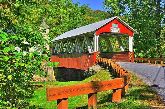 PA Country Roads - St. Mary's Covered Bridge Over Shade Creek No. 10 - Huntingdon County by Michael Mazaika