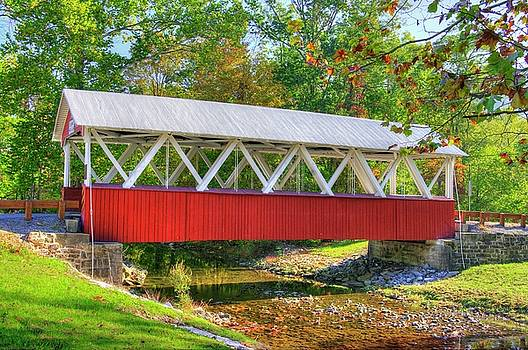 PA Country Roads - St. Mary's Covered Bridge Over Shade Creek No. 4 - Huntingdon County by Michael Mazaika
