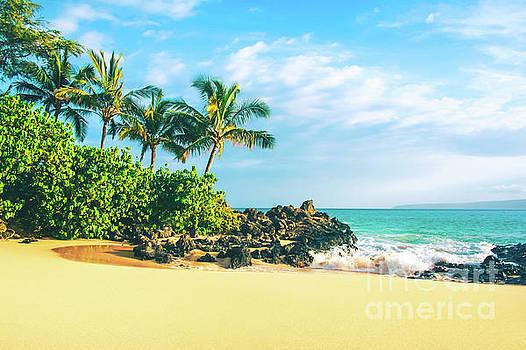 Paako Beach Honuaula Makena Maui Hawaii by Sharon Mau