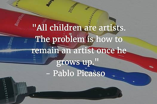 Pablo Picasso Quote by Matt Create