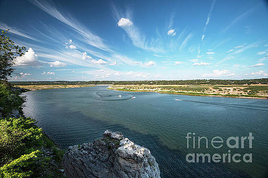 Herronstock Prints - Pace Bend Park offers boating enthusiast miles of shoreline and breathtaking views of Lake Travis
