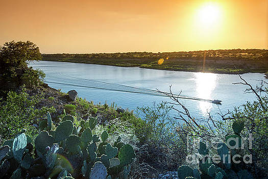 Herronstock Prints - Pace Bend Park offers gorgeous colorful sunsets and unique post card views of Lake Travis