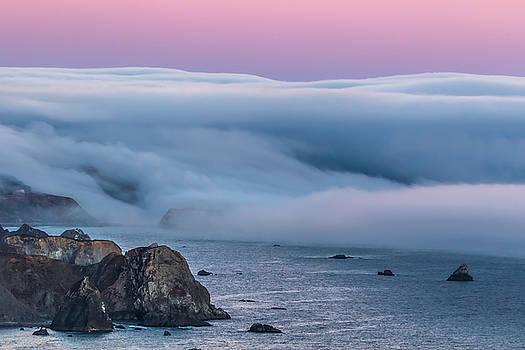 Marc Crumpler - Pacific Coast Fog at Sunset