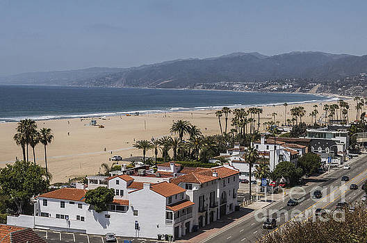 Pacific Coast Highway along Santa Monica Beach by Kevin McCall