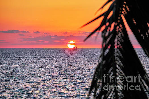 Pacific Coast Sunset in Banderas Bay by George Oze