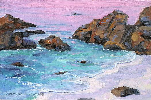 Pacific Grove Sunset Rocks #2 by Rhett Regina Owings