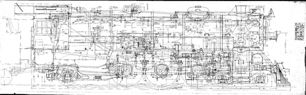 Pacific Locomotive Diagram by Baltimore and Ohio Railroad