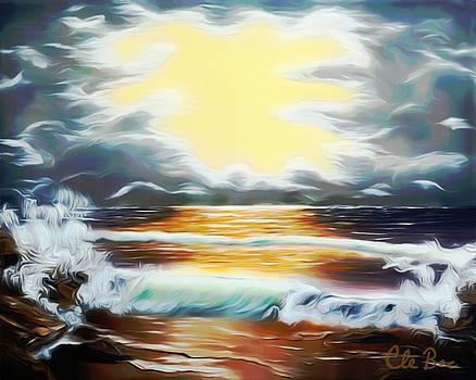 Claude Beaulac - Pacific Ocean Storm Dreamy Mirage