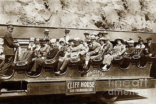 California Views Archives Mr Pat Hathaway Archives - Pacific Siteseeing Co Bus No. 15 with a load of tourists on Point 1919