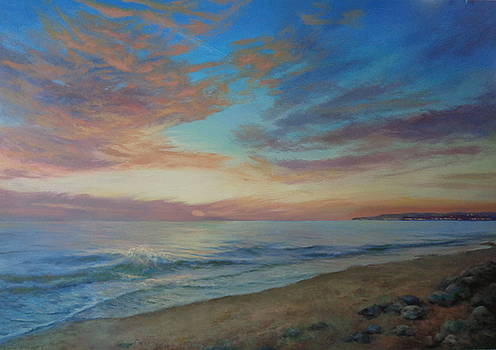 Pacific Sunset by Sharon Weaver