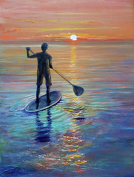 Paddle boarding by Penny Golledge