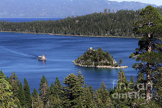 Paddle Boat Emerald Bay Lake Tahoe California by Steven Frame