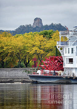 Paddlewheeler at Winona MN Mississippi River by Kari Yearous