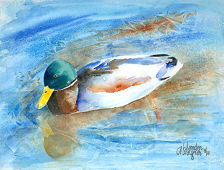 Paddling Along by Arline Wagner