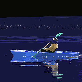James Hill - Paddling by Moonlight
