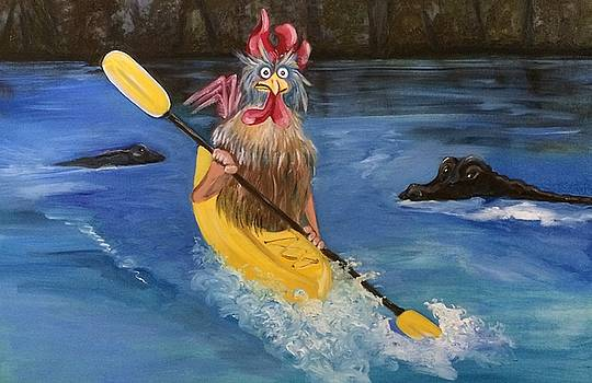 Paddling Poultry by Lisa Graves