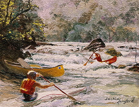 Paddling the New River by Jackie Langford