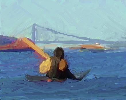 Paddling to Staten Island by Harry Spitz