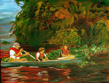 Paddling Trio by Libby  Cagle