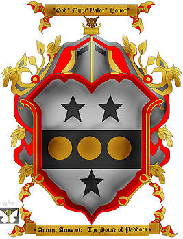 Paddock Family Crest by Anne Norskog