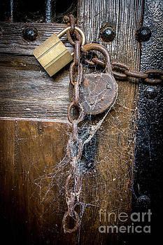BERNARD JAUBERT - Padlock and wooden door