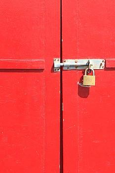 Padlock Red Door by Darren Kearney
