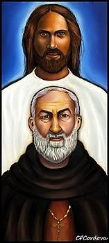 Padre Pio and Jesus by Carmen Cordova