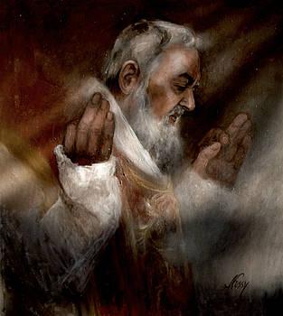 Padre Pio at Nones by Elisabeth Nussy Denzler von Botha