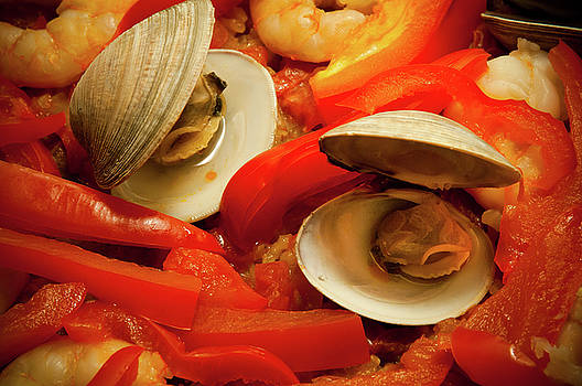 Paella, Detail, Rustic Home Cooking by James Oppenheim
