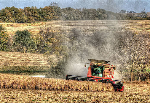 Page County Iowa Soybean Harvest by J Laughlin