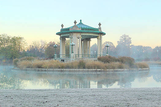 Pagoda Lake and Bandstand in Forest Park by Greg Matchick