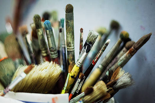 Paint Brushes by Jeanette Fellows