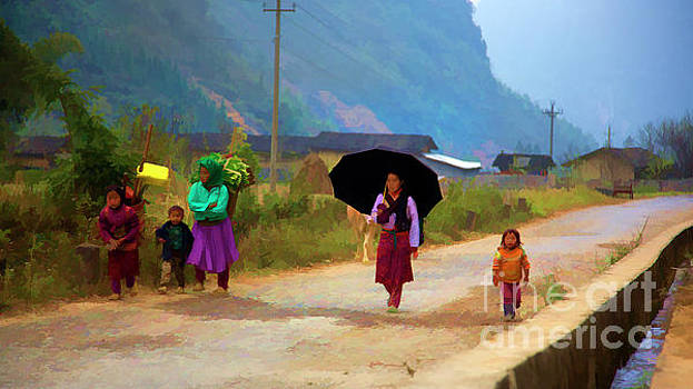 Chuck Kuhn - Paint color Ha Giang Village