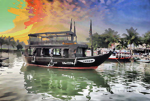 Chuck Kuhn - Paint Digital Boat Hoi An